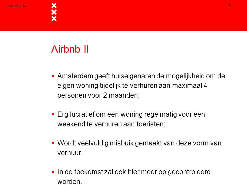 7 oktober 2014 Airbnb II.