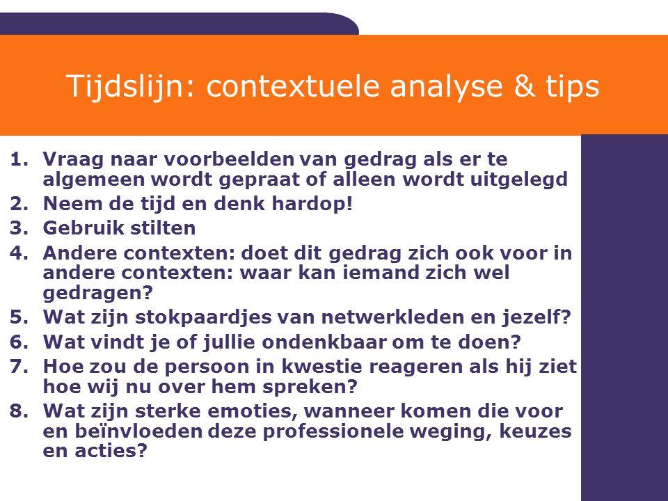Tijdslijn: contextuele analyse & tips