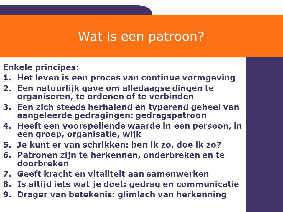 Wat is een patroon Enkele principes: