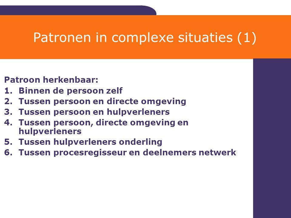 Patronen in complexe situaties (1)