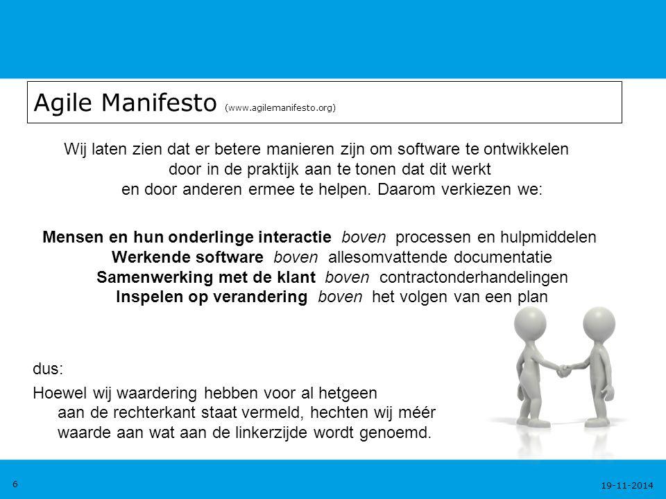 Agile Manifesto (www.agilemanifesto.org)