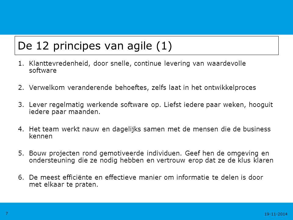 De 12 principes van agile (1)