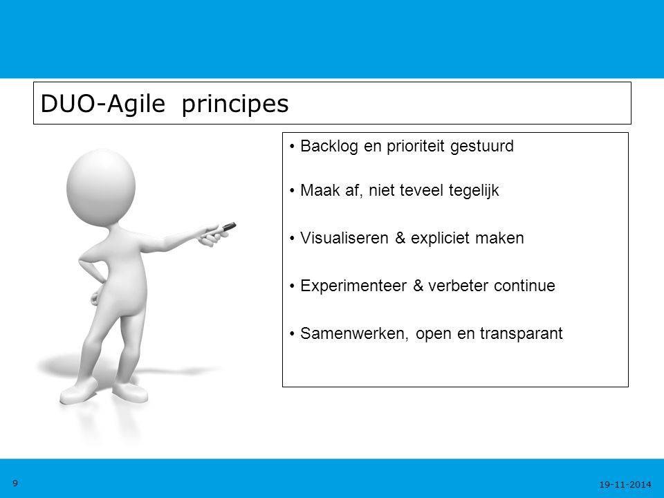 DUO-Agile principes Backlog en prioriteit gestuurd