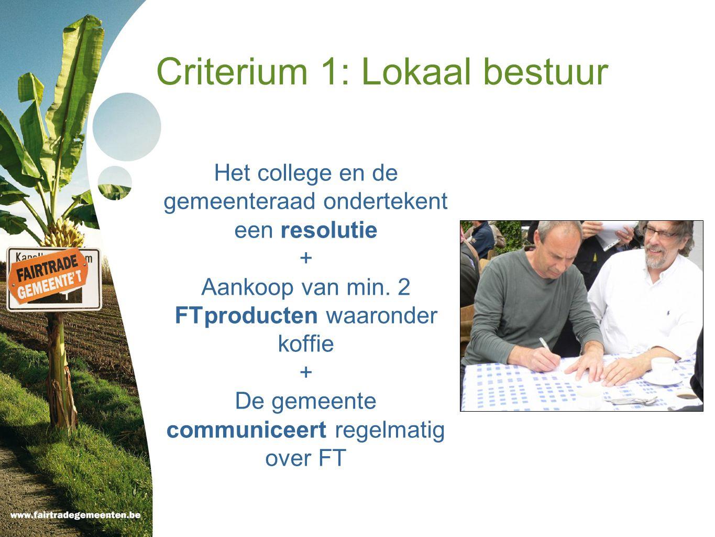 Criterium 1: Lokaal bestuur