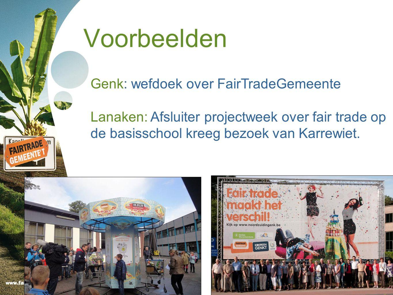 Voorbeelden Genk: wefdoek over FairTradeGemeente