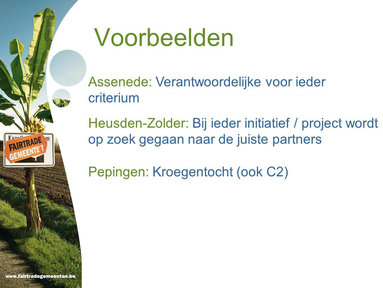 Voorbeelden Assenede: Verantwoordelijke voor ieder criterium