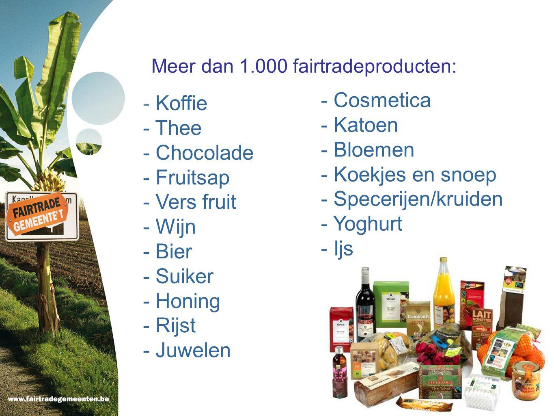 Meer dan 1.000 fairtradeproducten: