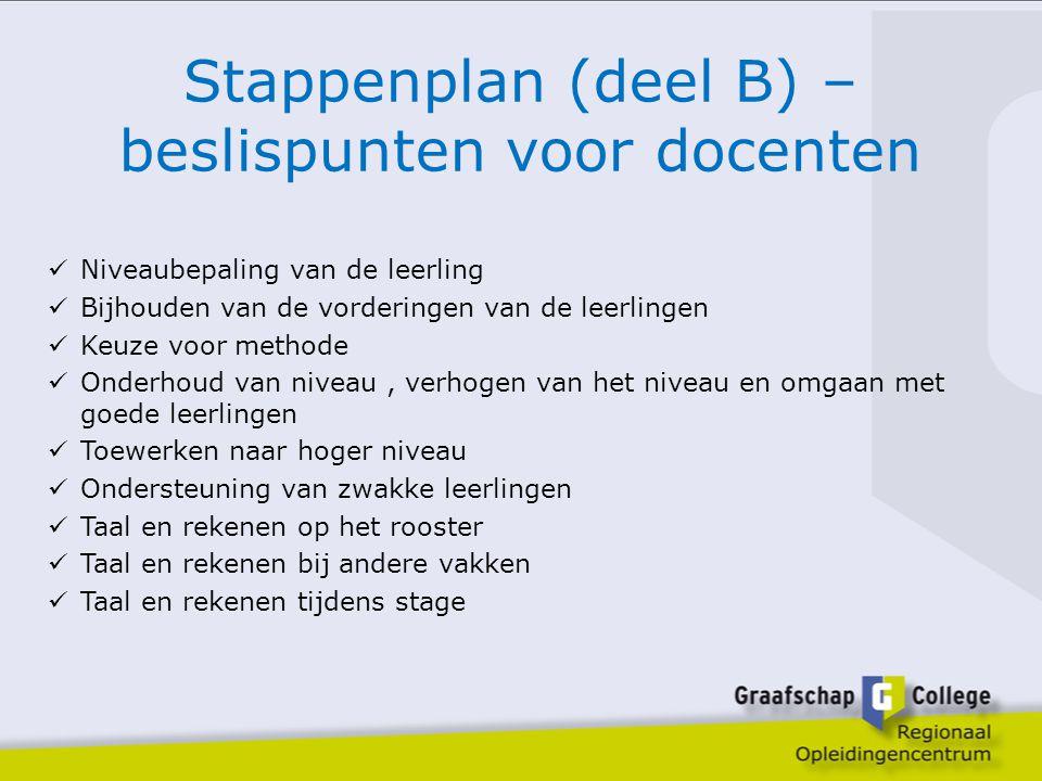 Stappenplan (deel B) – beslispunten voor docenten