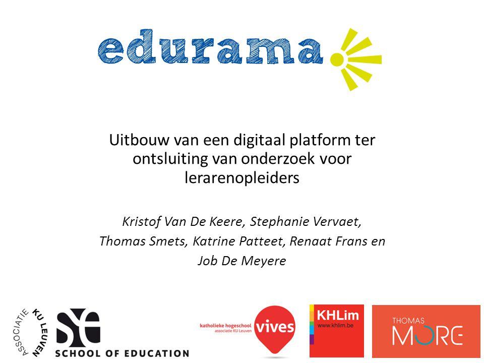 Uitbouw van een digitaal platform ter ontsluiting van onderzoek voor lerarenopleiders