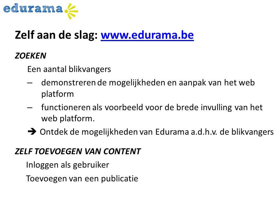 Zelf aan de slag: www.edurama.be