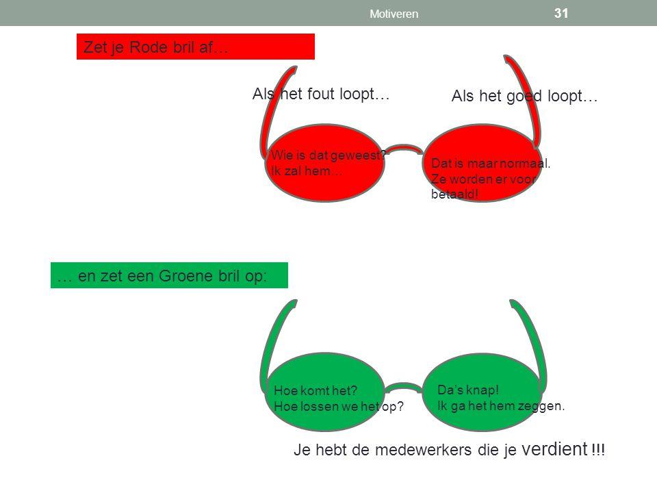 … en zet een Groene bril op: