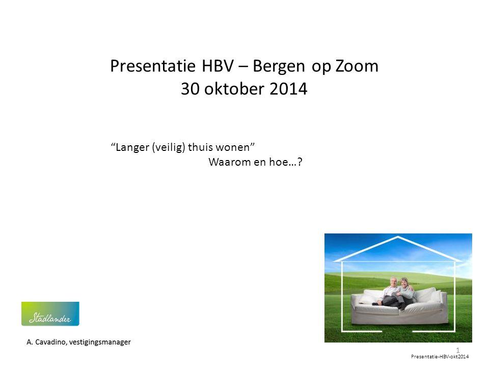 Presentatie HBV – Bergen op Zoom 30 oktober 2014