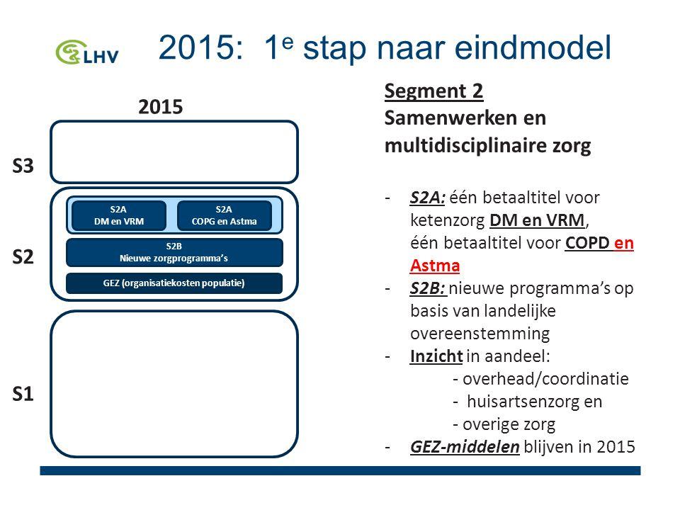 GEZ (organisatiekosten populatie) Nieuwe zorgprogramma's