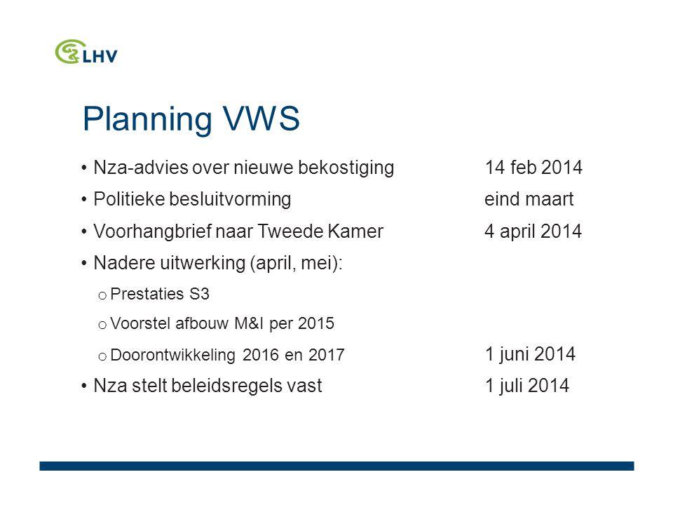 Planning VWS Nza-advies over nieuwe bekostiging 14 feb 2014