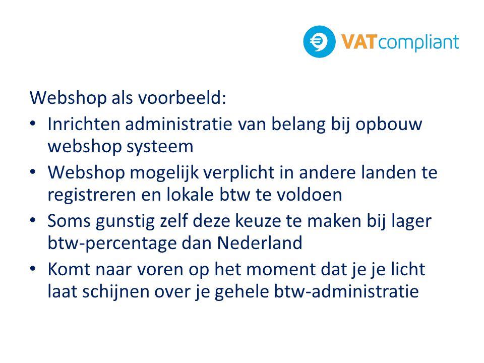 Webshop als voorbeeld: