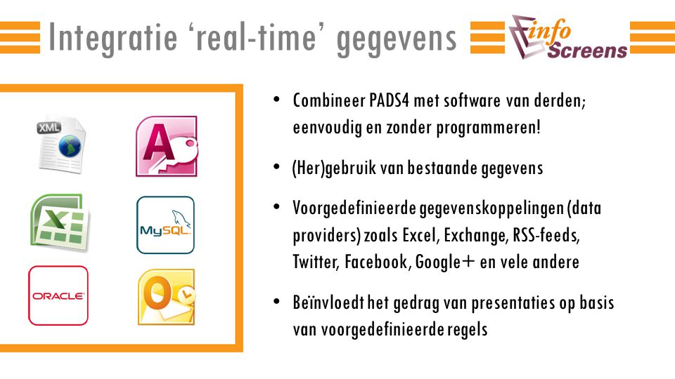 Integratie 'real-time' gegevens
