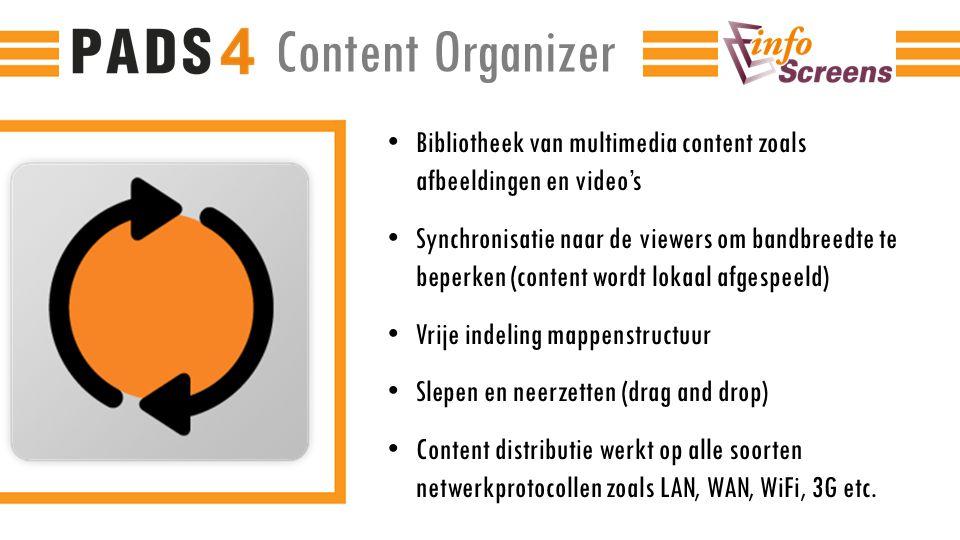 Content Organizer Bibliotheek van multimedia content zoals afbeeldingen en video's.