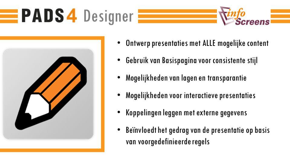 Designer Ontwerp presentaties met ALLE mogelijke content