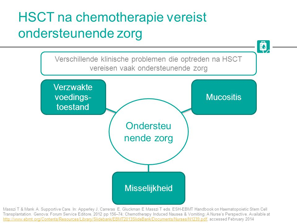 HSCT na chemotherapie vereist ondersteunende zorg