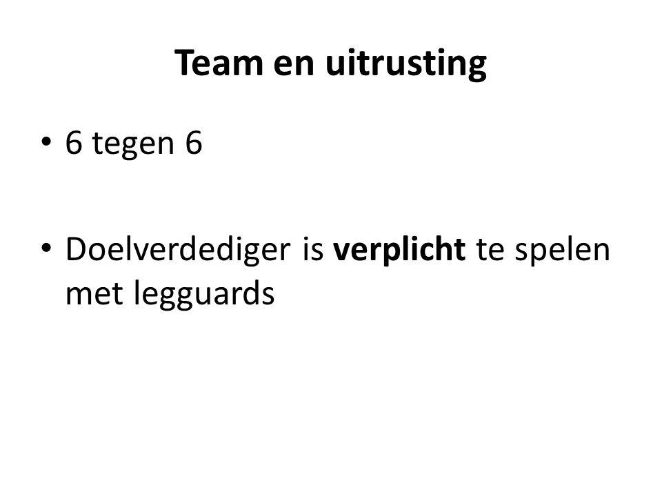 Team en uitrusting 6 tegen 6