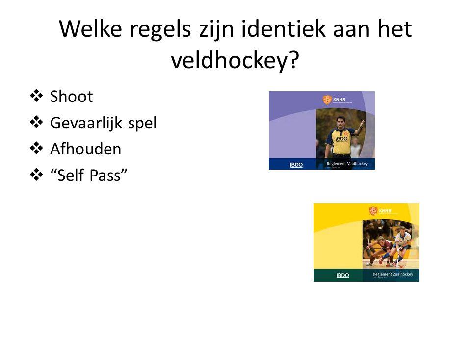Welke regels zijn identiek aan het veldhockey