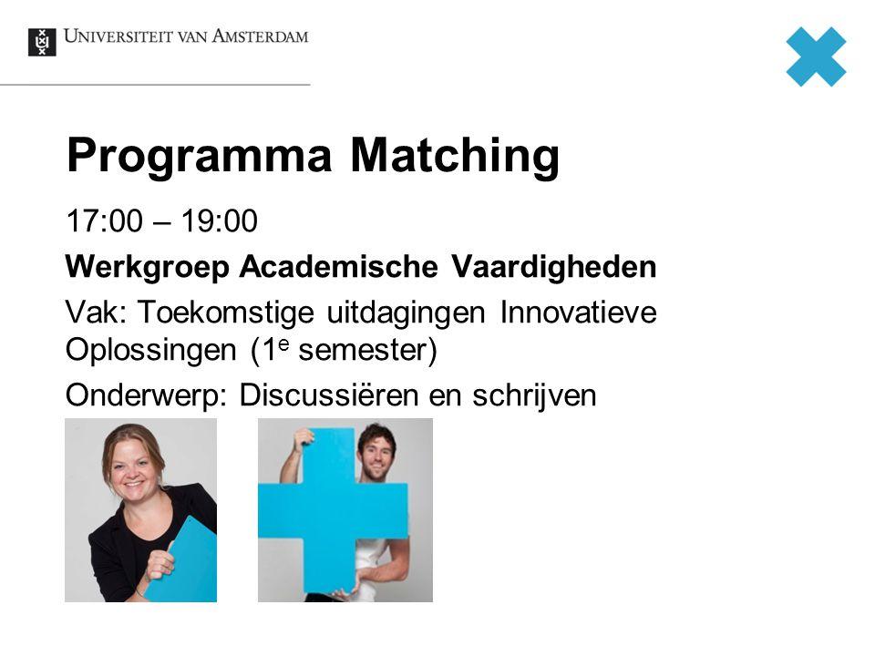 Programma Matching
