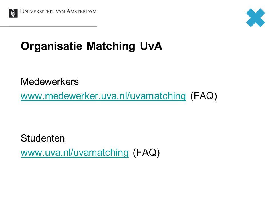 Organisatie Matching UvA