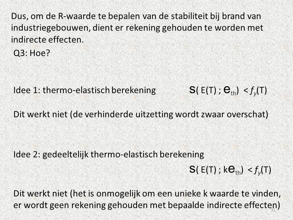 Dus, om de R-waarde te bepalen van de stabiliteit bij brand van industriegebouwen, dient er rekening gehouden te worden met indirecte effecten.