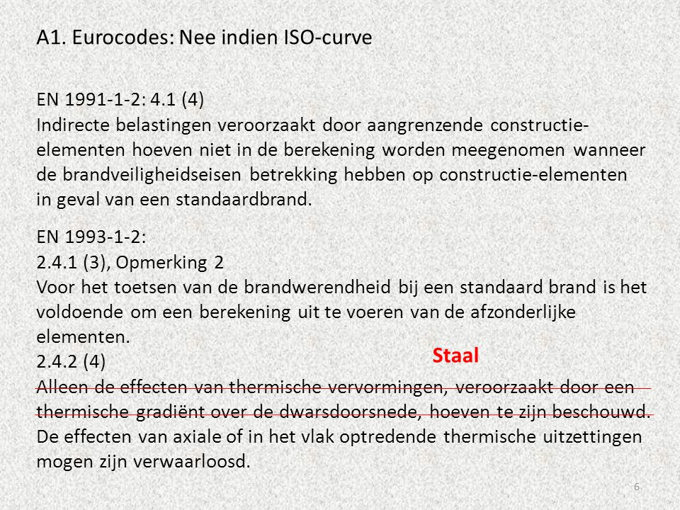 A1. Eurocodes: Nee indien ISO-curve