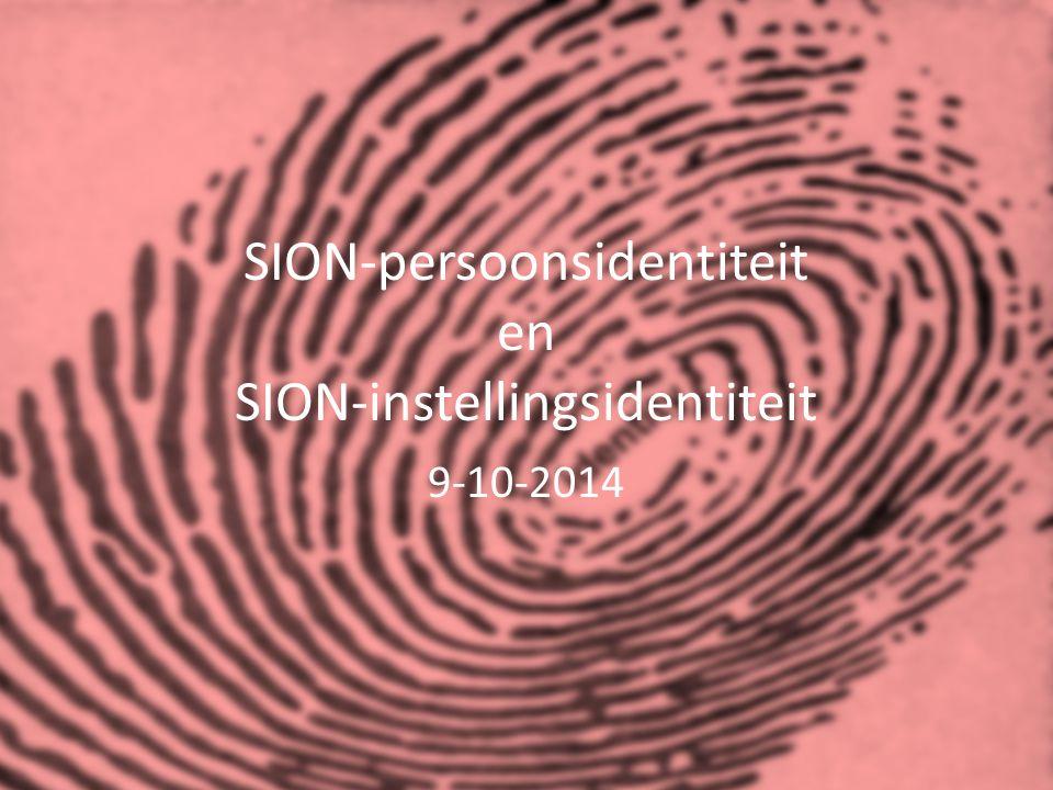 SION-persoonsidentiteit en SION-instellingsidentiteit