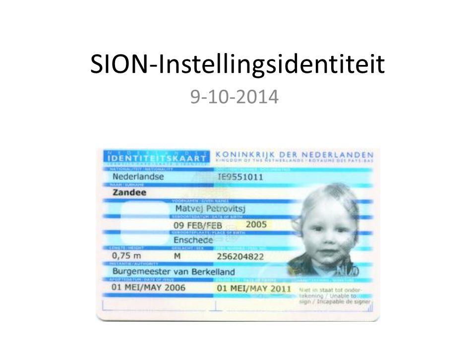 SION-Instellingsidentiteit