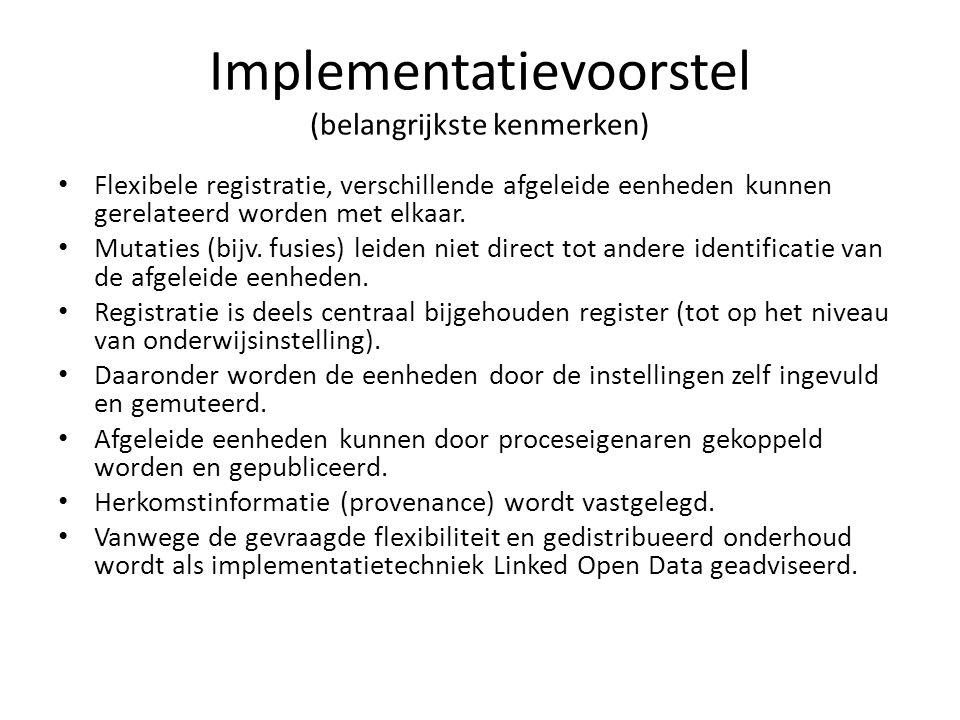 Implementatievoorstel (belangrijkste kenmerken)