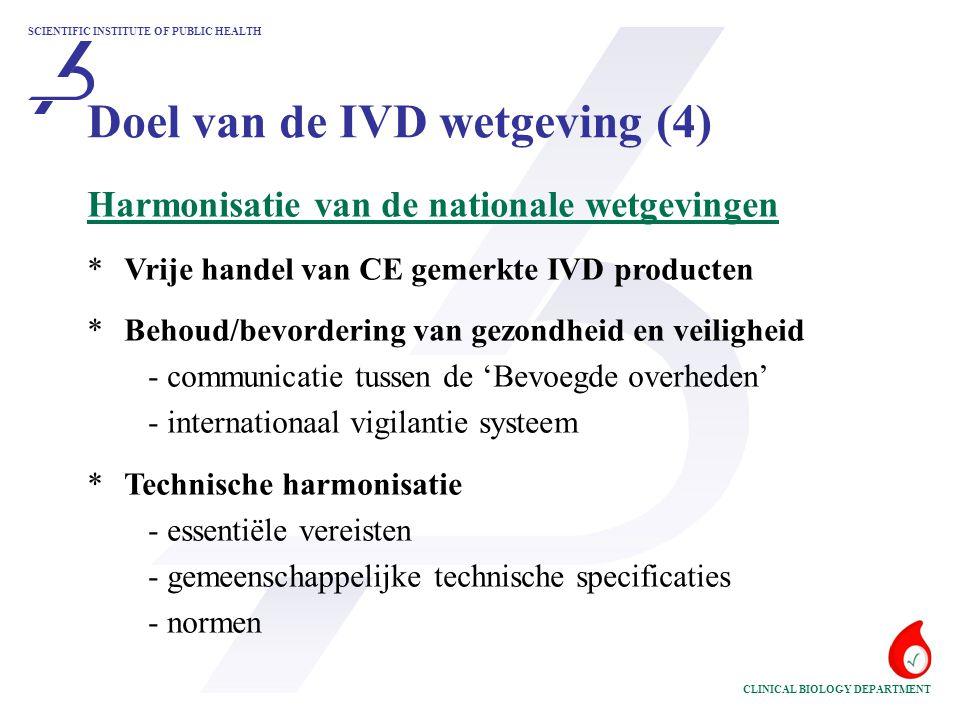 Doel van de IVD wetgeving (4)