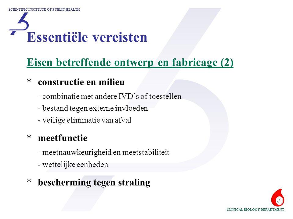 Essentiële vereisten Eisen betreffende ontwerp en fabricage (2)