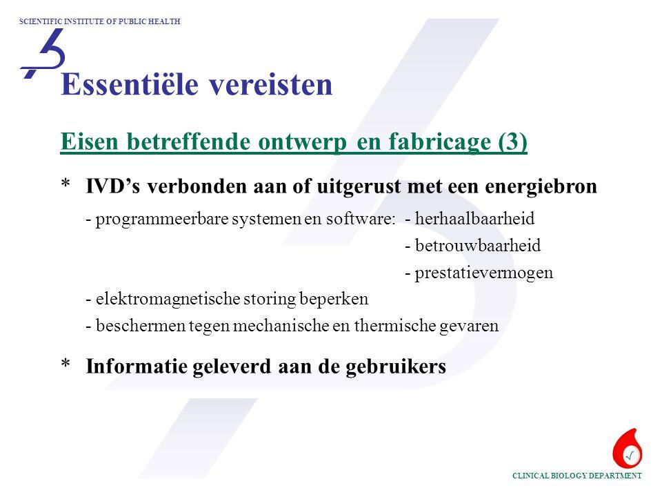Essentiële vereisten Eisen betreffende ontwerp en fabricage (3)