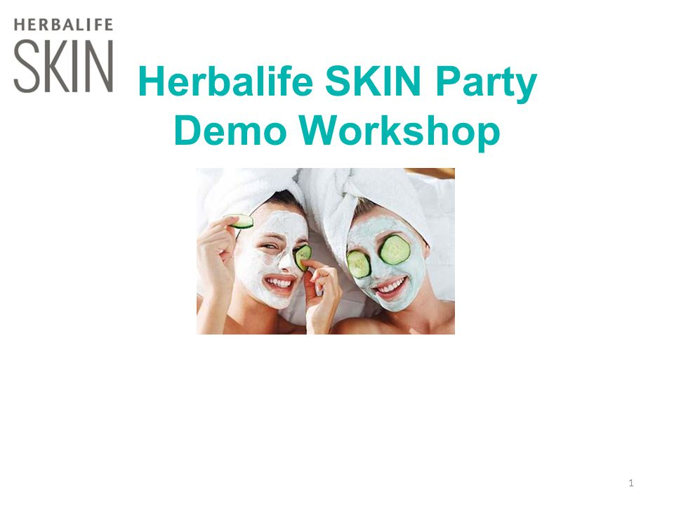 Herbalife SKIN Party Demo Workshop