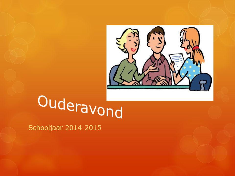 Ouderavond Schooljaar 2014-2015