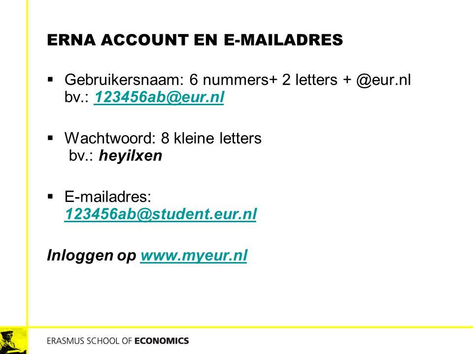Erna Account en e-mailadres