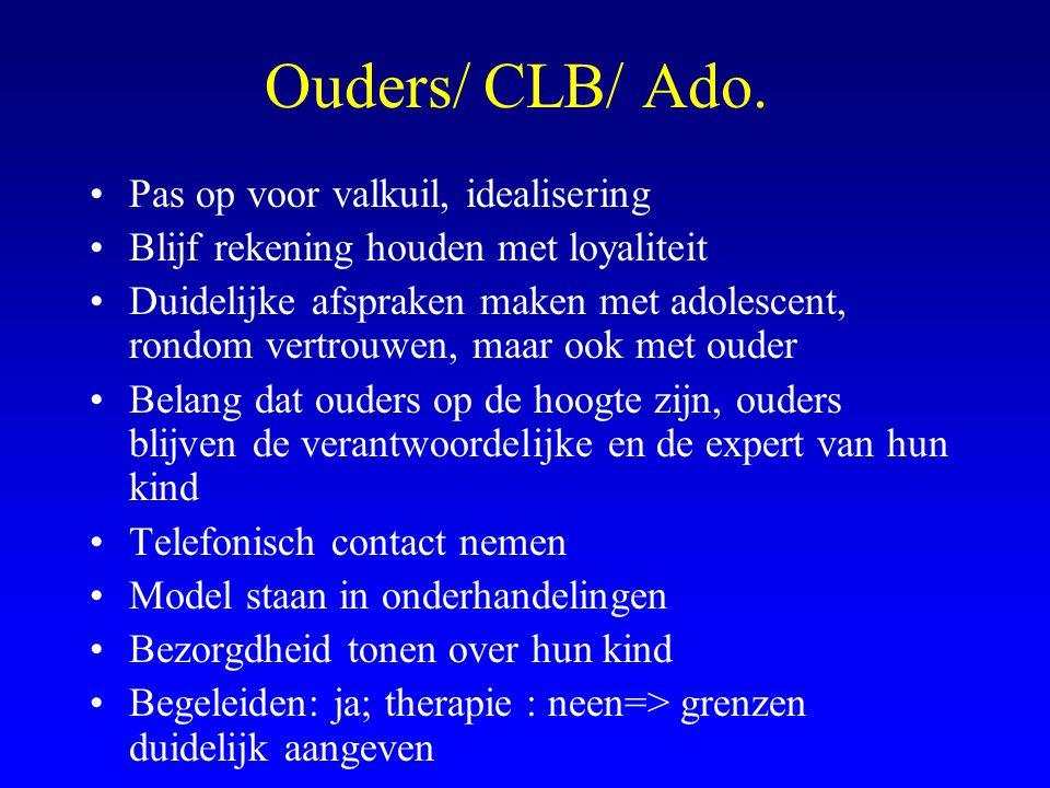 Ouders/ CLB/ Ado. Pas op voor valkuil, idealisering