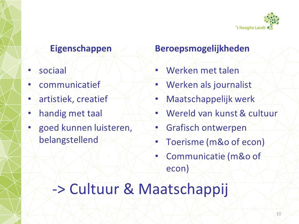 -> Cultuur & Maatschappij