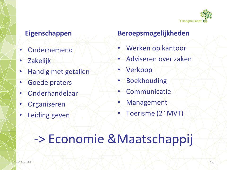 -> Economie &Maatschappij