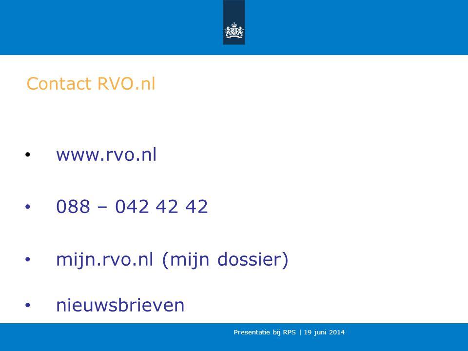 mijn.rvo.nl (mijn dossier) nieuwsbrieven