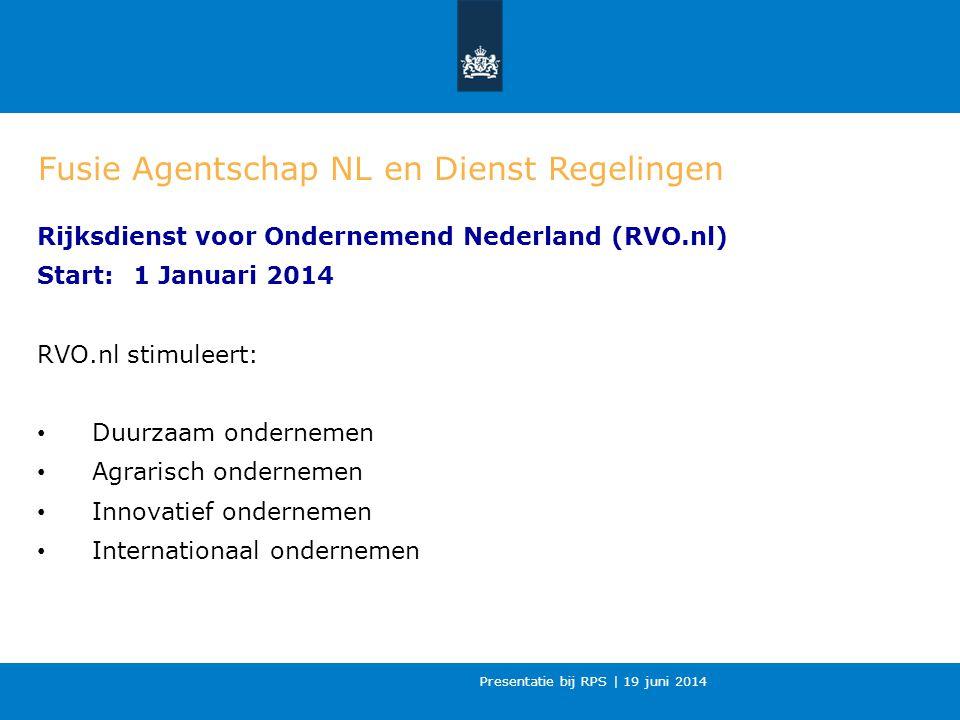Fusie Agentschap NL en Dienst Regelingen