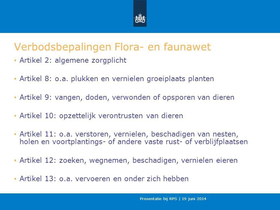 Verbodsbepalingen Flora- en faunawet