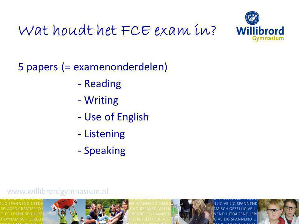 Wat houdt het FCE exam in