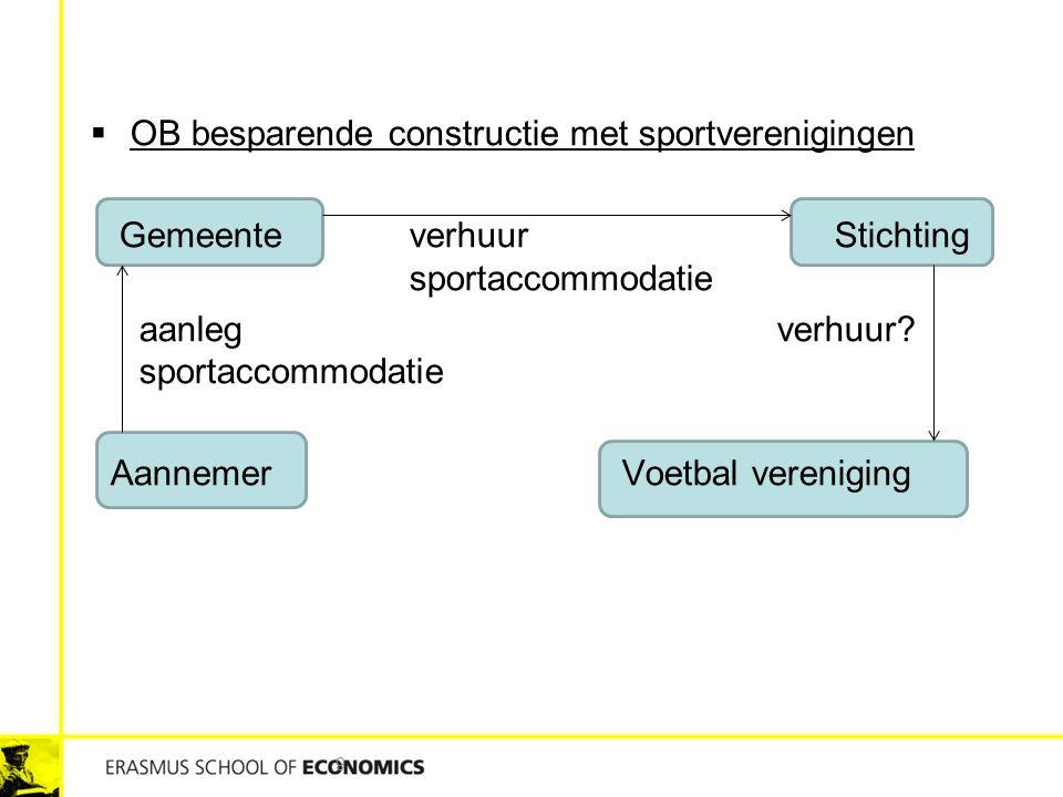 OB besparende constructie met sportverenigingen