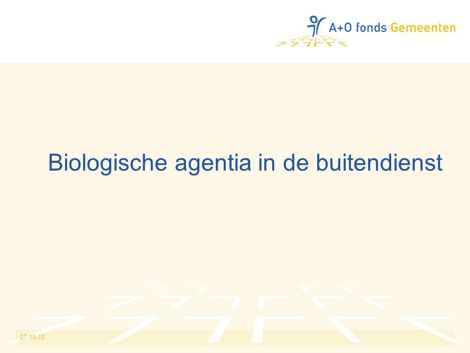 Biologische agentia in de buitendienst