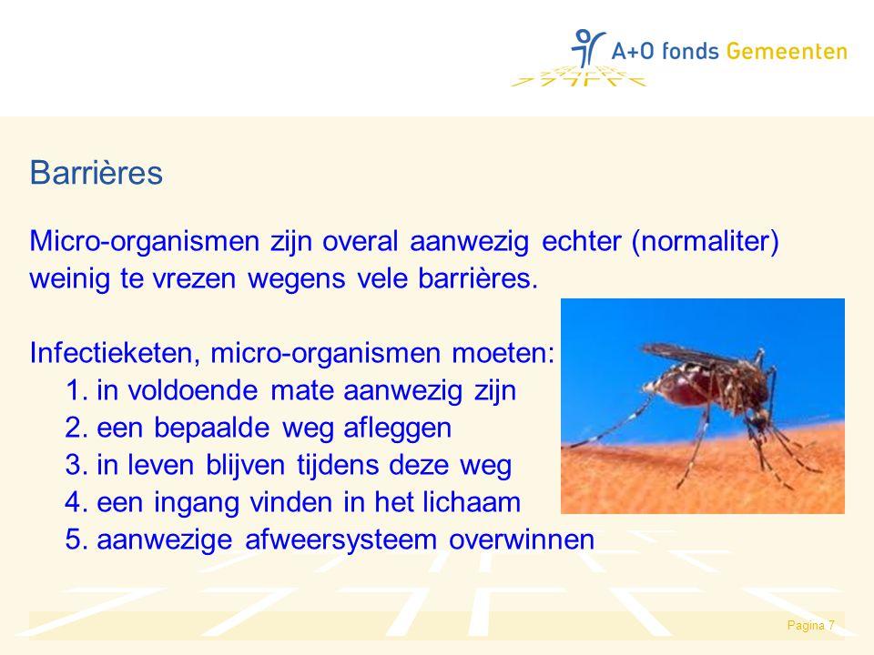 Barrières Micro-organismen zijn overal aanwezig echter (normaliter)