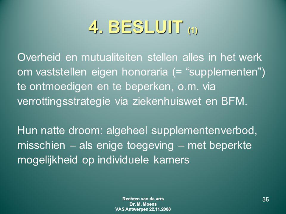 Rechten van de arts Dr. M. Moens VAS Antwerpen 22.11.2008