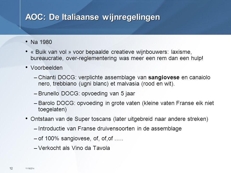 AOC: De Italiaanse wijnregelingen